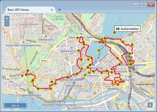 Screenshot Basic GPS Viewer